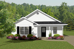 Vacation Home Plan Front of Home - 069D-0107 | House Plans and More