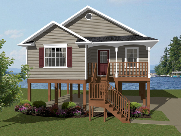 Lilburn bay coastal beach home plan 069d 0108 house plans and more - Two story holiday homes ...