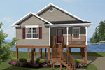 Beach & Coastal House Plan Front of Home - 069D-0108 | House Plans and More