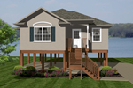 Beach & Coastal House Plan Front of Home - 069D-0110 | House Plans and More