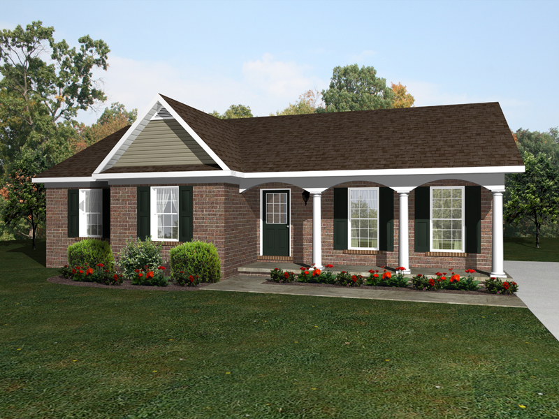 Ranch House Plan Front of Home - 069D-0111 | House Plans and More