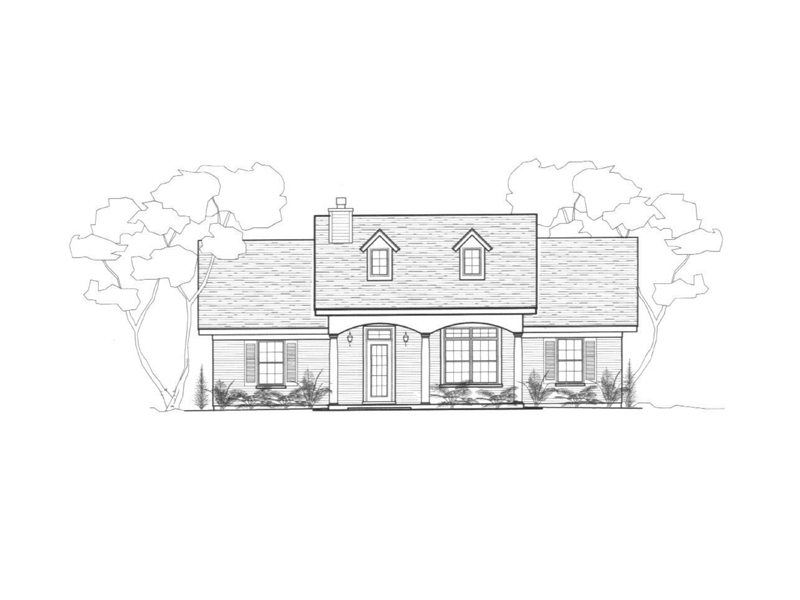 Ranch House Plan Front of Home - 069D-0113 | House Plans and More