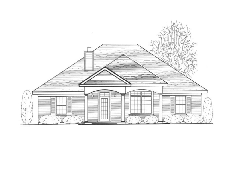 Ranch House Plan Front of Home - 069D-0114 | House Plans and More