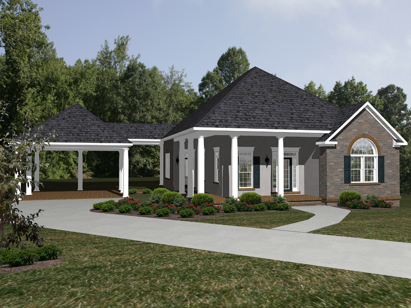 Traditional House Plan Front of Home 069D-0115