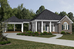 Ranch House Plan Front of Home - 069D-0115 | House Plans and More