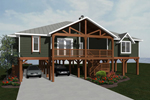 Beach and Coastal House Plan Front of Home - 069D-0116 | House Plans and More