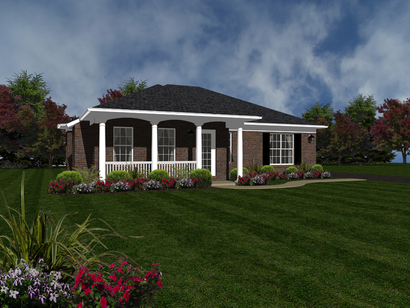 Ranch House Plan Front of Home - 069D-0117 | House Plans and More