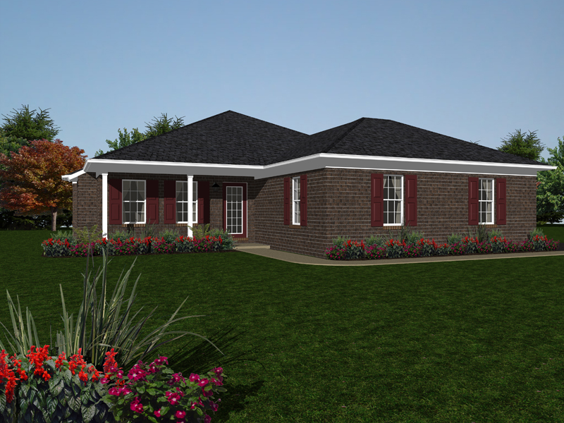 Ranch House Plan Front of Home - 069D-0118 | House Plans and More