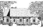 Farmhouse Plan Front of Home - 069D-0119 | House Plans and More