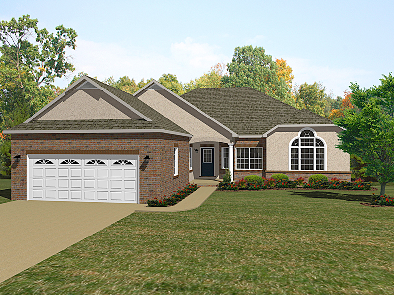 Ranch House Plan Front of Home - 069D-0120 | House Plans and More