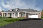 Ranch House Plan Front of Home - 069D-0121 | House Plans and More