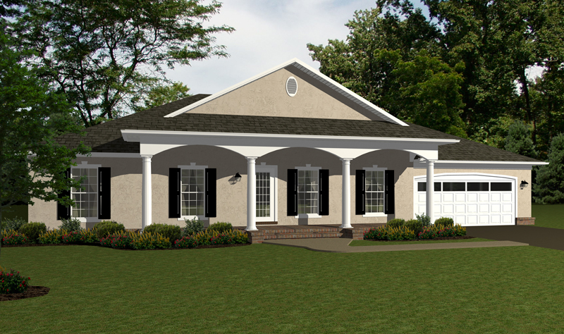 Ranch House Plan Front of Home - 069D-0122 | House Plans and More