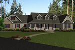 Ranch House Plan Front of Home - 069D-0123 | House Plans and More