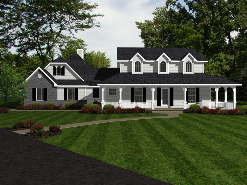 Country House Plan Front of Home - 069D-0124 | House Plans and More