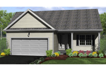 Traditional House Plan Front of Home - Sidney Falls Ranch Home 070D-0699 | House Plans and More