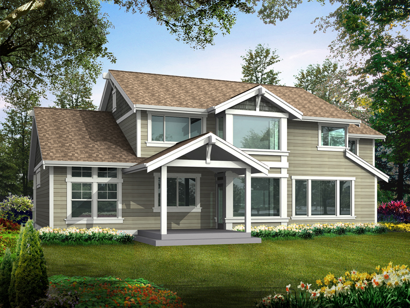 Shingle House Plan Color Image of House - 071D-0001 | House Plans and More