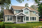 Arts and Crafts House Plan Color Image of House - 071D-0001 | House Plans and More
