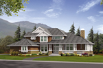 Cheerful, Highly Styled Craftsman Home Design