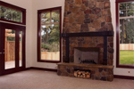 Modern House Plan Fireplace Photo 01 - 071D-0003 | House Plans and More