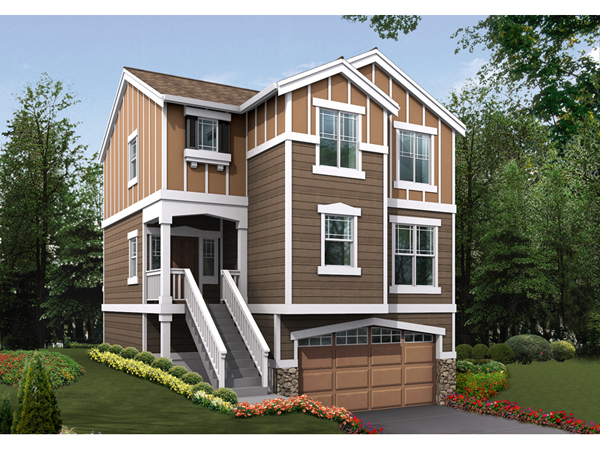Nona heights narrow lot home plan 071d 0019 house plans for Narrow lot modern modular homes