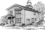 Traditional House Plan Front Image of House - 071D-0030 | House Plans and More