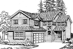 Traditional House Plan Front Image of House - 071D-0031 | House Plans and More