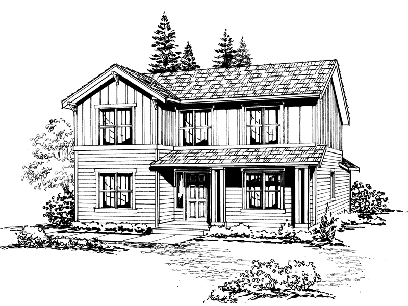Country House Plan Front Image of House - 071D-0033 | House Plans and More