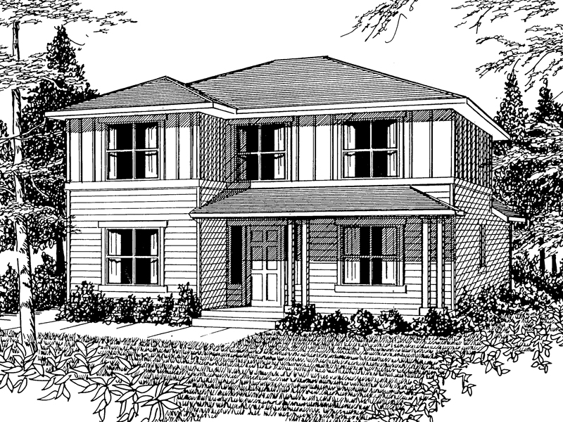 Country House Plan Front Image of House - 071D-0034 | House Plans and More