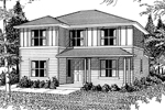 Traditional House Plan Front Image of House - 071D-0034 | House Plans and More