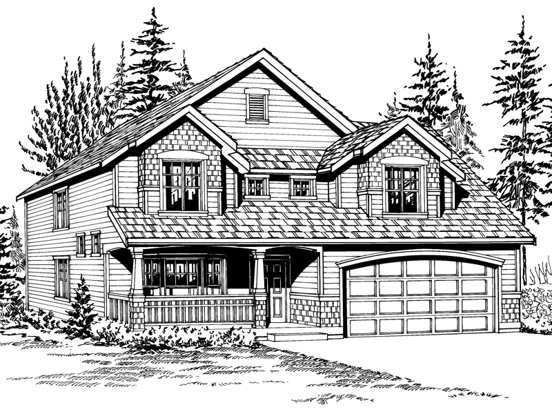 Craftsman House Plan Front Image of House - 071D-0035 | House Plans and More