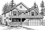 Shingle House Plan Front Image of House - 071D-0035 | House Plans and More