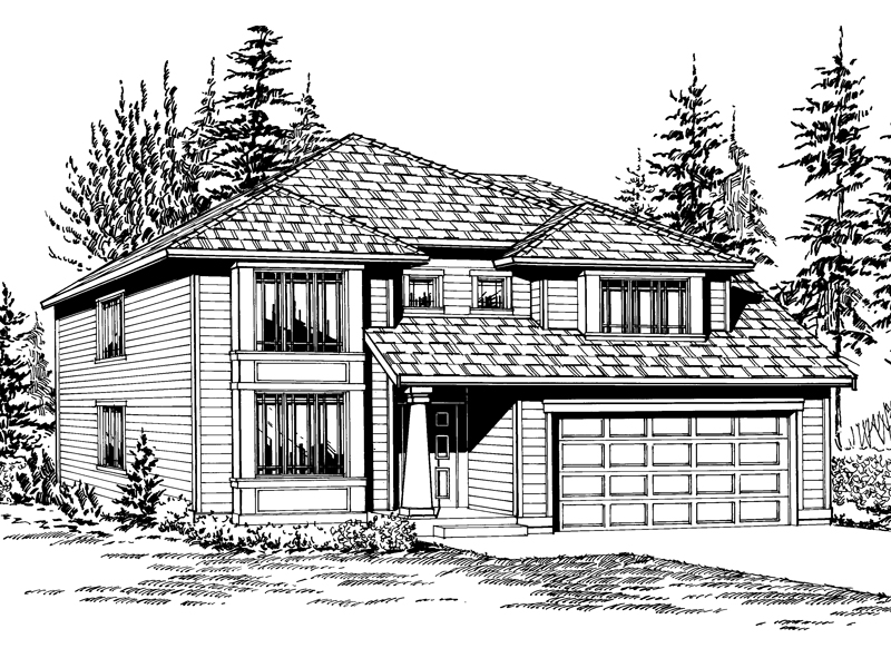 Contemporary House Plan Front Image of House - 071D-0036 | House Plans and More