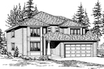 Modern House Plan Front Image of House - 071D-0036 | House Plans and More