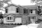 Modern House Plan Front Image of House - 071D-0037 | House Plans and More