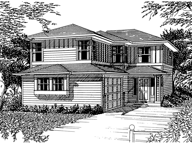 Traditional House Plan Front Image of House - 071D-0038 | House Plans and More