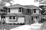 Contemporary House Plan Front Image of House - 071D-0038 | House Plans and More