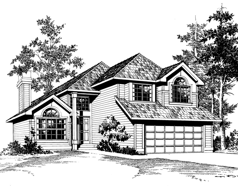 Traditional House Plan Front Image of House - 071D-0040 | House Plans and More