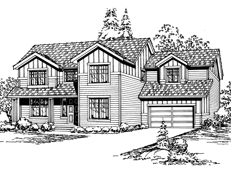 Southern House Plan Front Image of House - 071D-0041 | House Plans and More