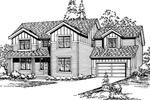 Modern House Plan Front Image of House - 071D-0041 | House Plans and More