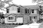 Modern House Plan Front Image of House - 071D-0042 | House Plans and More