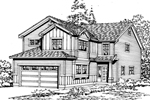 Contemporary House Plan Front Image of House - 071D-0043 | House Plans and More