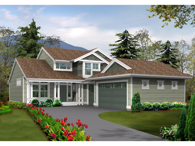 stylish arts crafts house with side entry garage - Arts Crafts Home Plans