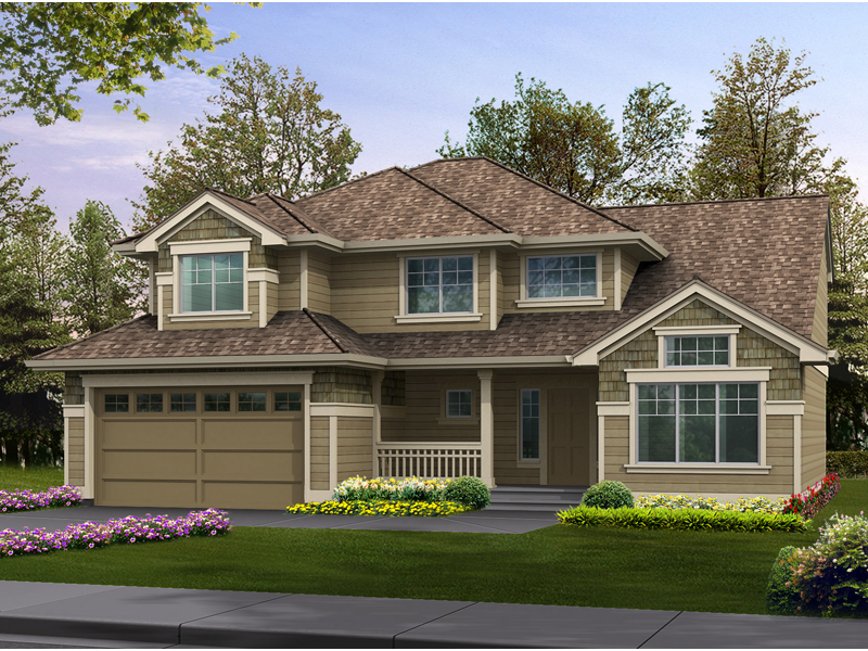 Patterson woods craftsman home plan 071d 0049 house for Simple two story house