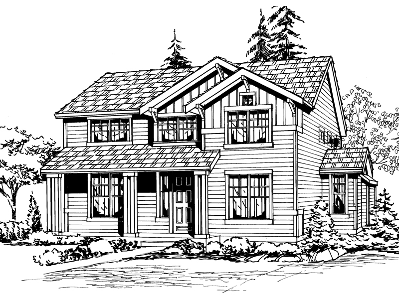 Craftsman House Plan Front Image of House - 071D-0051 | House Plans and More