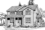 Modern House Plan Front Image of House - 071D-0051 | House Plans and More