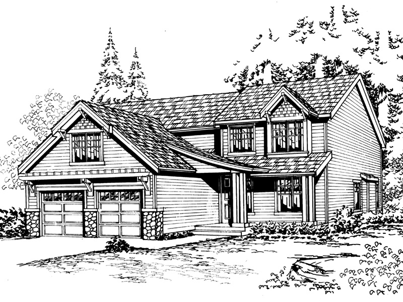 Traditional House Plan Front Image of House - 071D-0052 | House Plans and More