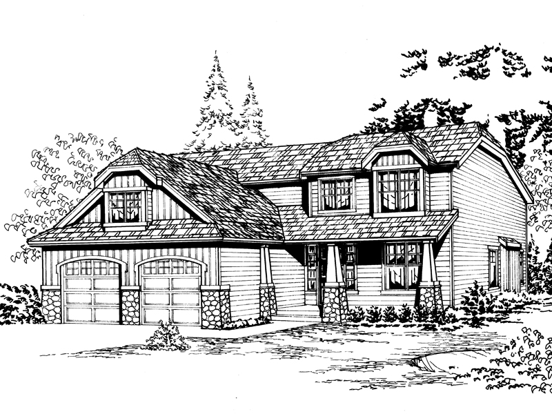 Casual Country Style Two-Story House With Hip Roof