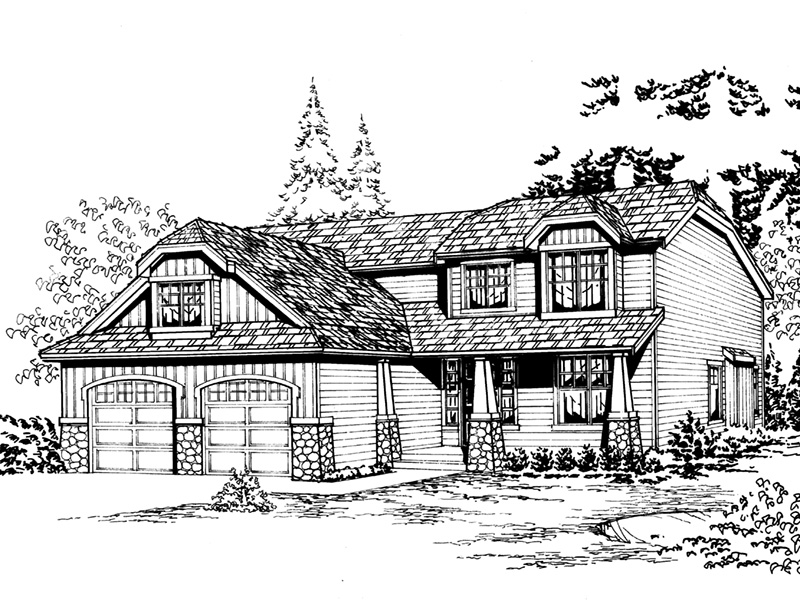 Craftsman House Plan Front Image of House - 071D-0053 | House Plans and More