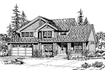 Craftsman House Plan Front Image of House - 071D-0055 | House Plans and More