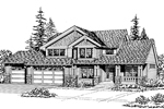 Southern House Plan Front Image of House - 071D-0056 | House Plans and More